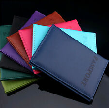New Journey Travel Passport Holder Protector Cover Wallet PU Leather Cover Case