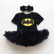 Newborn Infant Baby Girl Batman Romper Bodysuit Dress Clothes Photo Outfits