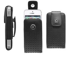 New Black Leather Case Pouch for Apple iPhone 4/4S 5/5S 6/6+ Cover and Belt Clip