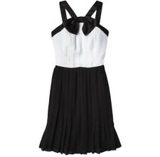 Prabal Gurung For Target Black and White Pleated Dress w/ Bow Select Size