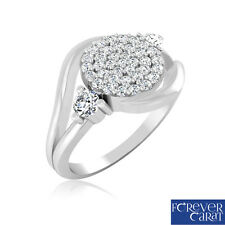 Certified 0.30 Ct Natural & Real Diamond Designer Ring 925 Sterling Silver Ring