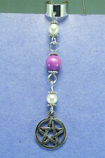 Purple Turquoise Pentacle Ear Cuff Wiccan Pagan