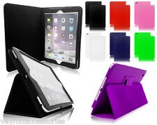 NEW Magnetic Leather PU Folio Folding Stand Cover Case For Apple iPad 2 3 & 4 UK