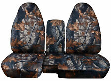 1983-2015 Ford Ranger 60/40 Camouflage Seat Covers Choose color