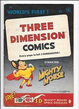 Mighty Mouse 3-D Comics #1 Three Dimension (1953) No 3-D Glasses