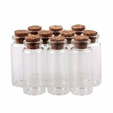 "New Glass Bottles 50mm 2"" 10ml Message Bottles Spice Storage Glass with Vials"