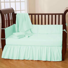 Baby Crib Bedding Set Fitted Skirt Bumper - 3PC Crib Bedding Set