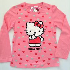 NEW - Girls HELLO KITTY Long Sleeve T-Shirt - Size 2, 3, 4, 5, 6