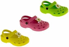 Girls Summer Clog Sandals Kids Holiday Beach Pool Shoes Size Sz 7 8 9 10 11