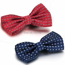 Men's Fashion Novelty Polka Dots Tuxedo Adjustable Wedding Party Bowtie Bow Tie