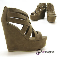 Women Fashion Shoes High Platform Wedges Heels Party Comfort Strappy Sandals HOT