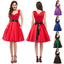 1940's 1950's Vintage Retro Full Circle Rock N Roll Swing Petticoat Jive Dress
