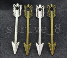 20/80/400pcs Antique Silver/Bronze two-sided arrow Charms Pendant 30x5mm