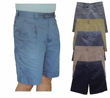 mens chino golf shorts  100% cotton  size 30 to 46
