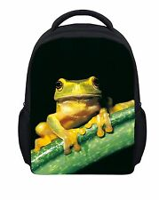 "12"" Animal frog Small School Backpack Bag Kindergarten Baby Rucksack Satchel"