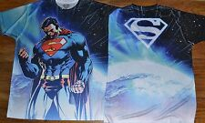 2 Sided Graphic Superman Active Wear T-Shirt Tee DC Comics Licensed 100% Poly