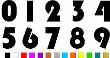 1x Set of Numbers 0 to 9 (5 inches tall) Vinyl Bumper Stickers Decals #a985