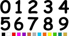 1x Set of Numbers 0 to 9 (5 inches tall) Vinyl Bumper Stickers Decals #a989