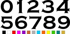 1x Set of Numbers 0 to 9 (4 inches tall) Vinyl Bumper Stickers Decals #a990