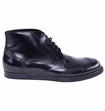 DOLCE & GABBANA Patent Leather Business Boots Shoes Black 03866