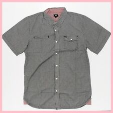 DC SHOES INC Mens Shirt*Size:S M L XL*BLACK Short Sleeve Top Genuine Skate Brand