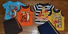 Disney Baby 3 Piece Tigger or Winnie the Pooh Summer Short Set Official Licensed