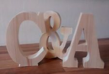 FREE STANDING PINE WOODEN LETTERS/HOME DECOR/NAME. large wooden letters,numbers