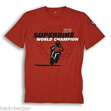 DUCATI Corse SBK Superbike WM Celebration T-Shirt 2011 CHECA limited Red new