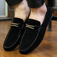 2015British Men's Suede Casual Lace Slip On Loafer Shoes Moccasins Driving Shoes