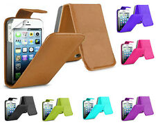 Premium Magnetic Wallet Flip Leather PU Case Cover For Apple iPhone 5 5G 5S UK