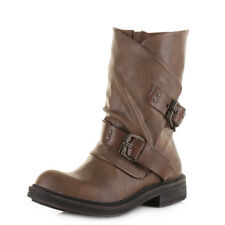 Womens Blowfish Forta Whiskey Old Saddle Wide Calf Fit Biker Boots Sz Size