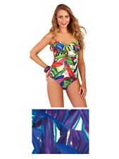 Womens Swimming Costume Halter Neck / Strapless Bandeau Swimsuit Size UK 8 - 16