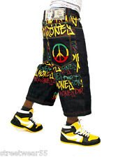 Dirty Money Is Rasta Peace Raw Time Jeans Shorts Hip Hop Is Money