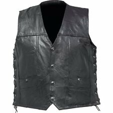 Leather Concealed Carry Gun Vest Motorcycle Rider Riding Biker MC Gear Jacket