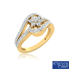 0.59Ct Certified Natural & Real Diamond Ring 14kt Hallmarked Gold Ring Jewellery