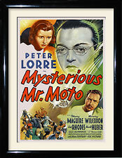Movie Posters and Framed Pictures Mysterious Mr Moto