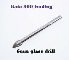 6mm GLASS DRILL BIT CERAMIC for GLASS TILES CAKE STAND HANDLES CHINA