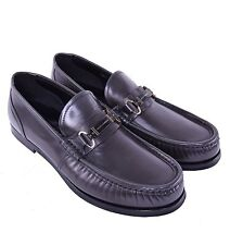 DOLCE & GABBANA Logotype Patent Leather Loafer Shoes Grey 03873