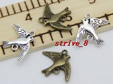 8/30/150pcs Tibet Silver/Bronze Lovely Seagull Charms pendant Connector 21x17mm