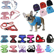 Soft Mesh Fabric Vest Puppy Dog Cat Pet Adjustable Harness Lead Leash with Clip