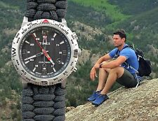 NEW! Timex Expedition Compass Watch w/ EXTRA WIDE Paracord 550 Watch Band