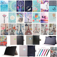 Printed Designs Flip Fold Stand PU Leather Card Cover Tablet Case For Apple iPad
