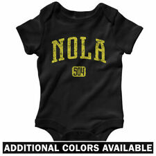 NOLA 504 One Piece - Saints New Orleans LA Baby Infant Creeper Romper  NB to 24M