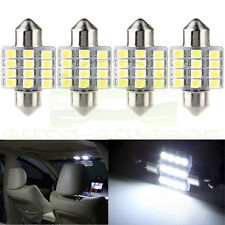 Super White 12SMD LED Map Dome Interior Light Bulbs 31MM Festoon 3022 DE3175 US