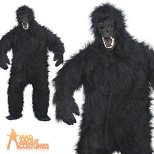 Adult Deluxe Gorilla Costume Ape Mens Halloween Fancy Dress Outfit New
