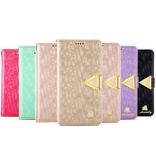 Luxury Diamond Leather Flip Wallet Stand Cover Case For Samsung Galaxy S5 i9600