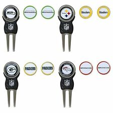 NFL Team Golf Divot Tool with 3 Magnetic Ball Markers * Pick Your Team *