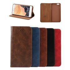 Crazy Horse PU Leather Wallet Filp Kickstand Phone Case Cover for iPhone 6s Plus