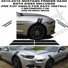 2015 & UP Mustang DOUBLE BAR Fender Hash Stripe MARK Vinyl Graphic Decal 5.0L GT