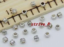 Lot 50/200/1000pcs Tibetan Silver cylindrical Beads Charms Spacer Beads 4x3mm